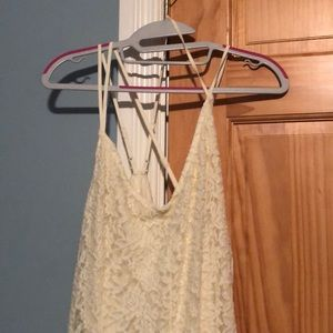 Lightly worn cream colored lace dress